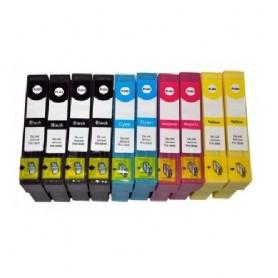 10 Cartucce Compatibili T1281-1282-1283-1284 (4xBk+6 color)