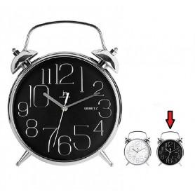 LOWELL 00815-CF Orologio Parete al quarzo cassa in ABS cromata interno bianco