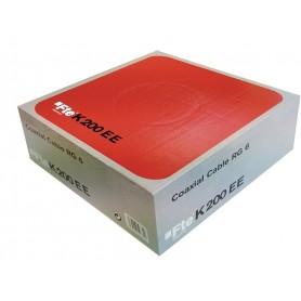 CAVO ANTENNA TV SAT COASSIALE PVC 5MM CLASSE A ROSSO MATASSA 100MT FTE K121RE