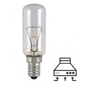 LAMPADA TUBOLARE INCANDESCENZA TRASPARENTE PER CAPPE ASPIRANTI E14 40W 220V