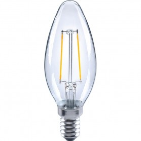 LAMPADA LED ECO OLIVA FILOLED 4,5W E14 220V 2700K 470 LM MARINO CRISTAL