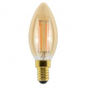 LAMPADA LED ECO OLIVA FILOLED GOLD 4,5W E14 2500K 21563 MARINO CRISTAL