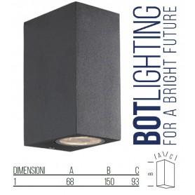Applique da parete in alluminio con schermo in vetro doppia emissione gu10 BOT LIGHTING Bot Lighting - 1
