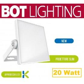 Proiettore a LED ultrapiatto con corpo in alluminio 20w 4000k bianco botlighting BOT LIGHTING Bot Lighting - 1