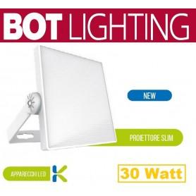 Proiettore a LED ultrapiatto con corpo in alluminio 30w 4000k bianco botlighting