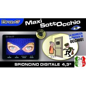 Spioncino occhiello digitale con monitor Telecamera LCD 4,3 pollici maxi sottocchio