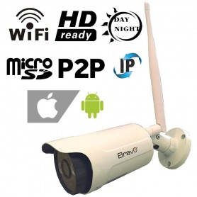 TELECAMERA HD WIFI IP ESTERNO SD 16GB INCLUSA BRAVO CAPTAIN 92902921 ANDROID IOS