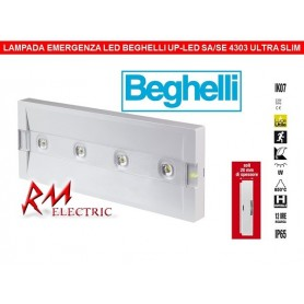 BEGHELLI 4303 - UP LED 11-24W SARM 1/2/3H IP65 EMERGENZA ULTRA SLIM