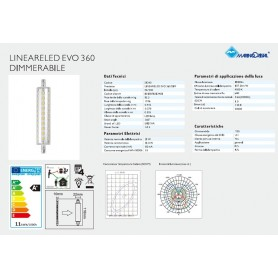 LAMPADA LED R7S 11W 118MM DIMMERABILE 360° NATURA 4000K MARINO CRISTAL 21240