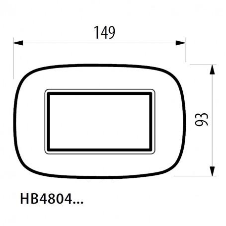BTICINO AXOLUTE - PLACCA 4P LEGNO CILIEGIO BTI HB 4804LCA