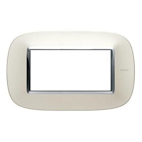 BTICINO axolute - placca 4P argento satinato BTI HB 4804 SA