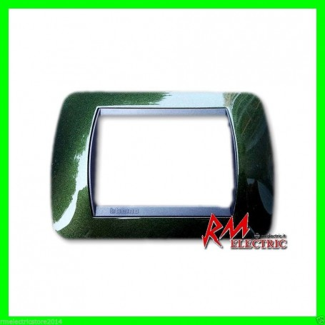 BTICINO living int - placca3 posti verde metall BTIL4803VT