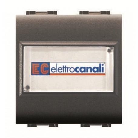 ELETTROCANALI BTICINO LIVING COMPATIBILE Pulsante CAMPANELLO porta nome ECL4025 Life