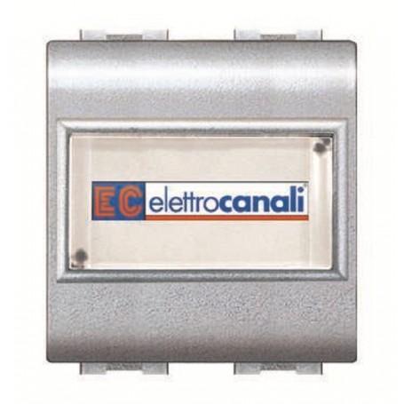 ELETTROCANALI BTICINO LIVING COMPATIBILE PULSANTE CAMPANELLO PORT NOME ECL4025TEC