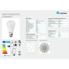 LAMPADA LED GOCCIA LAMPADINA 18W 230V E27 2700K LUCE CALDA 21329 MARINO CRISTAL