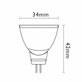 LAMPADA LED STD DICROICALED GU4 4W 12V 3000K 21506 MARINO CRISTAL