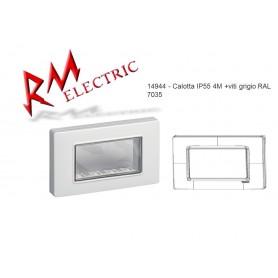 VIMAR CALOTTA IP55 4M +VITI GRIGIO RAL 7035 VIW14944