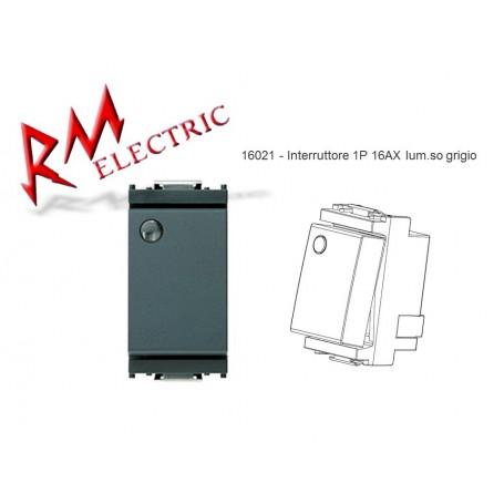 VIMAR Interruttore 1P 16AXlum.so grigio VIW16021