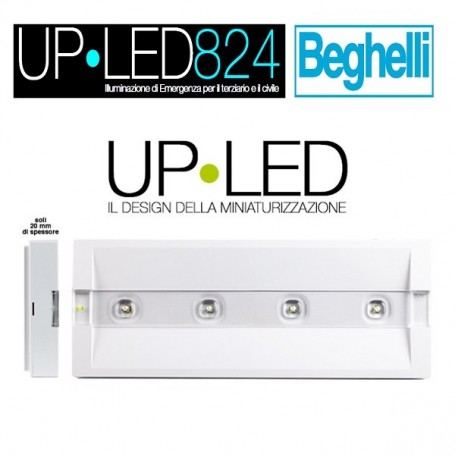 LAMPADA EMERGENZA LED BEGHELLI UP LED 2H 824S SE 100L 120'/RM IP42