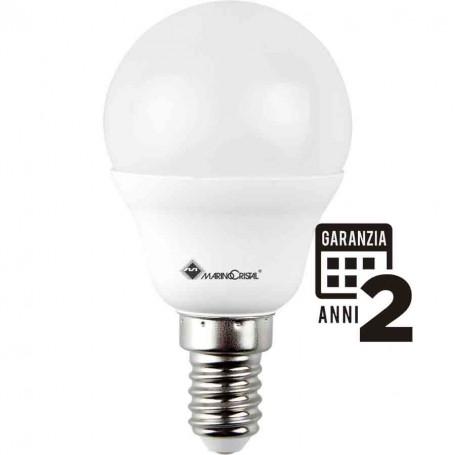 LAMPADA LED SFERA LAMPADINA 5W 230V E14 4000K LUCE NATURA 21277 MARINO CRISTAL