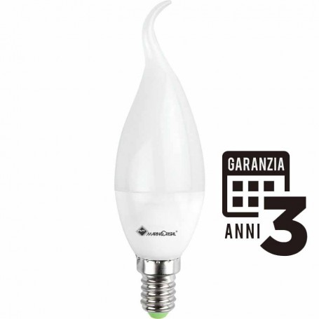 LAMPADA LED COLPO DI VENTO LAMPADINA 5W E14 4000K LUCE NATURA 21288 MARINO CRISTAL