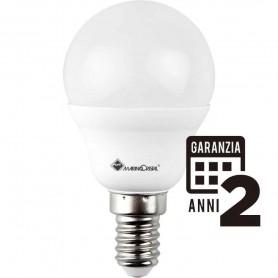LAMPADA SFERA LAMPADINA 5W 230V E14 3000K LUCE CALDA 21276 MARINO CRISTAL