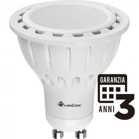 LAMPADA LED LAMPADINA 7W 230V GU10 6000°K LUCE FREDDA 21088 MARINO CRISTAL