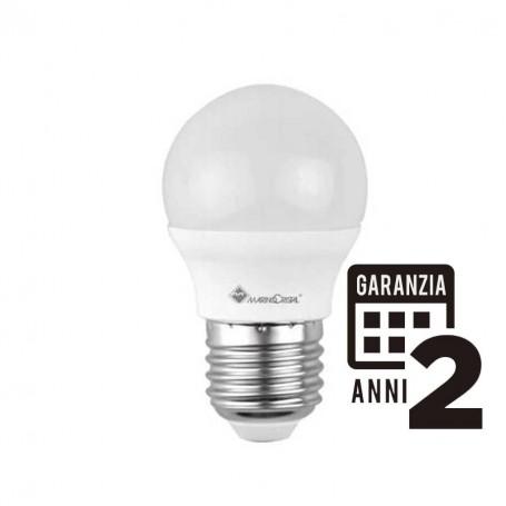 LAMPADINA LAMPADA LED SFERA 5W E27 230V 4000K LUCE NATURALE 21280 MARINO CRISTAL
