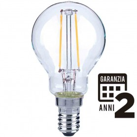 LAMPADA LED SFERA LAMPADINA 4W E14 FILOLED 2700K LUCE CALDA 21291 MARINO CRISTAL MARINO CRISTAL - 1