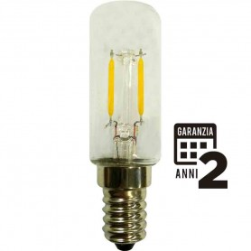 LAMPADA LED PERETTA LAMPADINA VETRO 1,2W E14 2700K LUCE CALDA 21216 MARINO CRISTAL