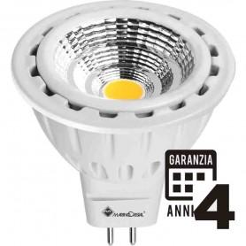 LAMPADA LED DICROICA LAMPADINA 7W GU5,3 12V 3000K LUCE CALDA 21131 MARINO CRISTAL