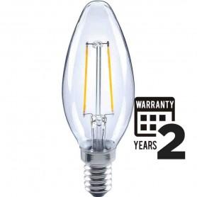 LAMPADA LED OLIVA LAMPADINA 2W E14 FILOLED 2700K LUCE CALDA 21258 MARINO CRISTAL