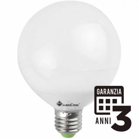 LAMPADA LED GLOBO LAMPADINA 15W 230V E27 LUCE FREDDA 6000K 21215 MARINO CRISTAL