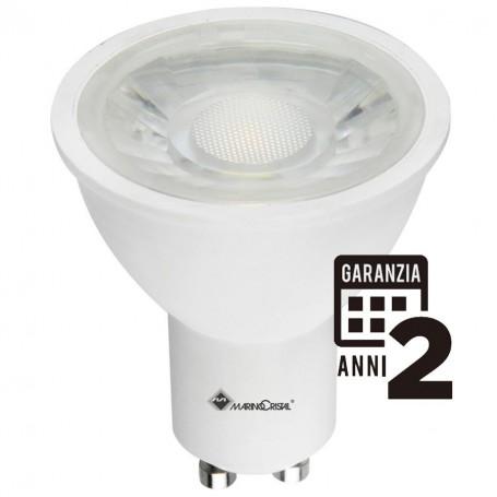 LAMPADA LED LAMPADINA GU10 5W 21212 MARINO CRISTAL 230V LUCE CALDA 3000K A+ MARINO CRISTAL - 1