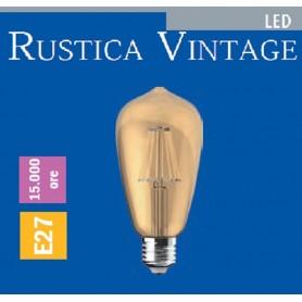 LAMPADA LED RUSTICA VINTAGE 8 WATT E27 IMPERIA 6010112