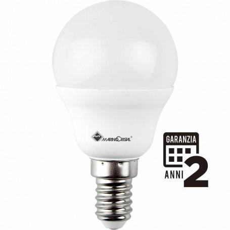 LAMPADA LED SFERA LAMPADINA 5W 230V E14 6000K LUCE FREDDA 21278 MARINO CRISTAL