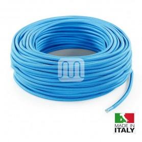 CAVO ELETTRICO TELATO TESSUTO MT3 TURCHESE 2x0,75 MERLOTTI 20.307 TO59