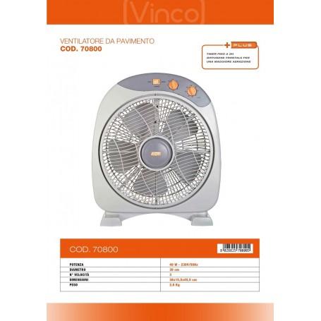VENTILATORE A BOX VINCO DIAMETRO 30 CM - 3 VELOCITA' - VENTILAZIONE - 70800