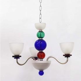 LAMPADARIO IN VETRO ATTACCO E14 3 LUCI PORRECA LAMP.3L