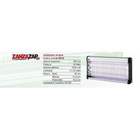 CFG ZANZARIERA ELETTRICA ZanzaZap 40 E312 attrae e fulmina gli insetti VOLANTI
