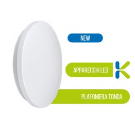 Plafoniera con base in metallo e diffusore in tecnopolimero bianco 54041 BOT LIGHTING