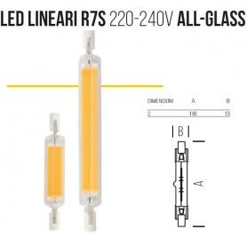 Lampada LED LINEARI R7s 220-240V ALL-GLASS 118mm 3000k 7w sld9208x2 BOT LIGHTING