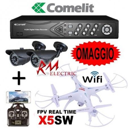 KIT DVR AHD COMELIT AHKIT040C KIT VIDEOSORVEGLIANZA AHD 4 INGRESSI HDD 1TB DRONE