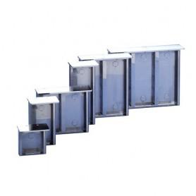 Custodia da parete in acciao inox, ANTIPIOGGIA 3319/2 COMELIT