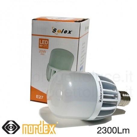 LAMPADA LED BULBO 20W E27 2300LM LUCE FREDDA 6500K NORSX824203 NORDEX ILLUMINAZIONE - 1
