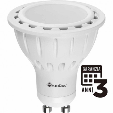 LAMPADA LED FARRETTO LAMPADINA 7W GU10 230V 4200K LUCE NATURA 21087 MARINO CRISTAL