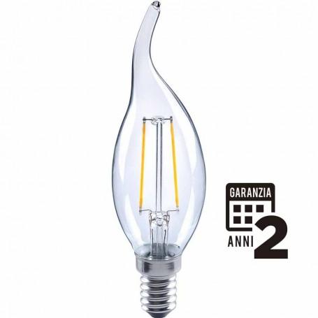 LAMPADA LED COLPO DI VENTO LAMPADINA FILOLED 2W E14 2700°K 21259 MARINO CRISTAL