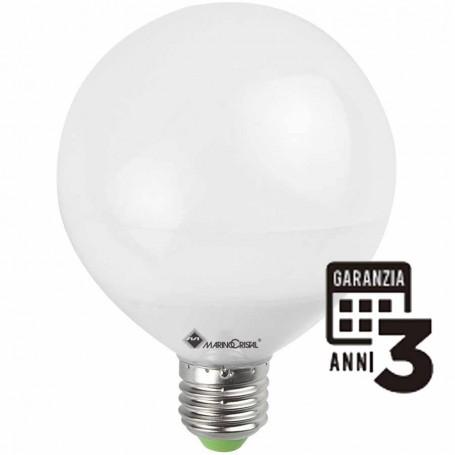 LAMPADA LED GLOBO LAMPADINA 15W E27 230V 4000K LUCE NATURA 21155 MARINO CRISTAL