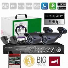 KIT VIDEOSORVEGLIANZA HD DVR COMPLETO HDD 1TB 8 INGRESSI COMELIT AHKIT080C