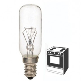 Lampada incandescenza tubolare trasparente E14 40W 230V per forni